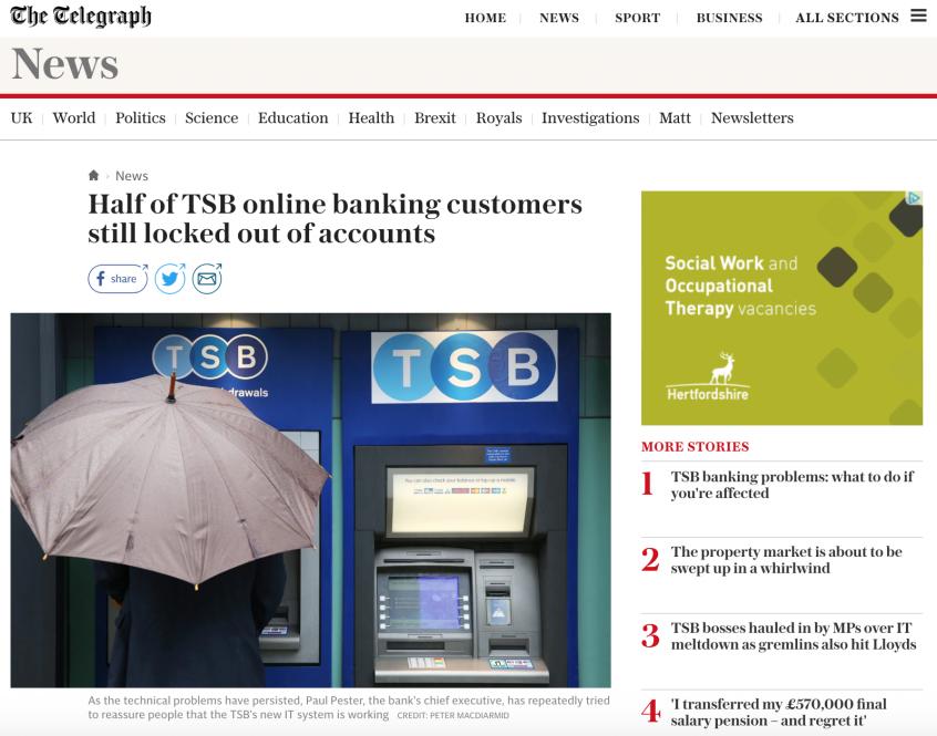 TSB Banking Fiasco
